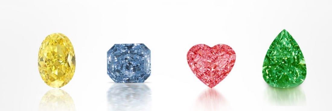 Array of Fancy Colored Diamonds
